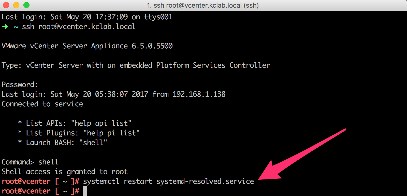 Clearing DNS cache on vCenter Server Appliance 6 5/6 7